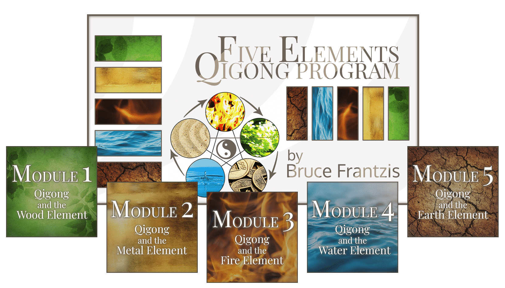 core five elements qigong program modules wood metal fire water earth