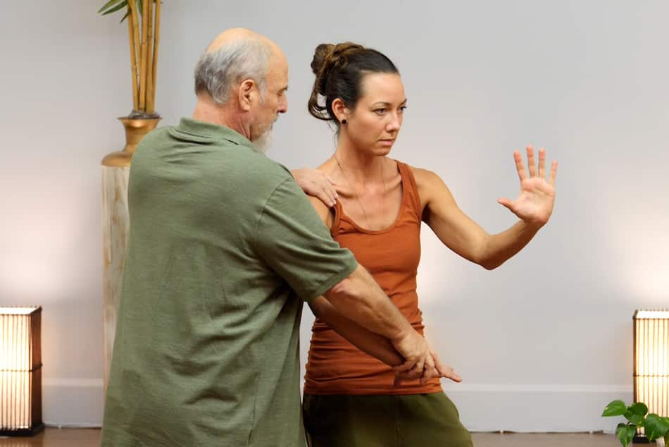 energy arts events senior instructor craig barnes demonstrates tai chi movement